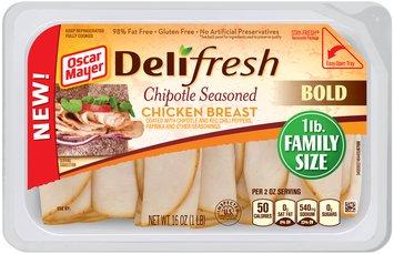 Oscar Mayer Deli Fresh Chipotle Seasoned Chicken Breast Cold Cuts 16 oz. Tub