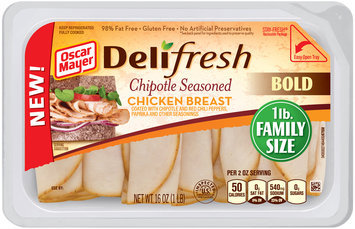 Oscar Mayer Deli Fresh Chipotle Seasoned Chicken Breast Cold Cuts 16 oz. Tub