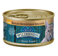 THE BLUE BUFFALO CO. BLUE™ Wilderness® Rocky Mountain Recipe™ Flaked Trout Feast For Adult Cats