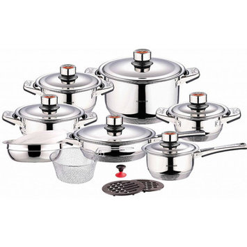 Concord Swiss Inox Stainless Steel 18-Piece Cookware Set