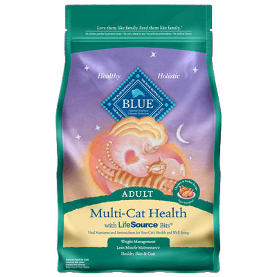 THE BLUE BUFFALO CO. BLUE™ Multi-Cat Health Chicken & Turkey Recipe For Adult Cats