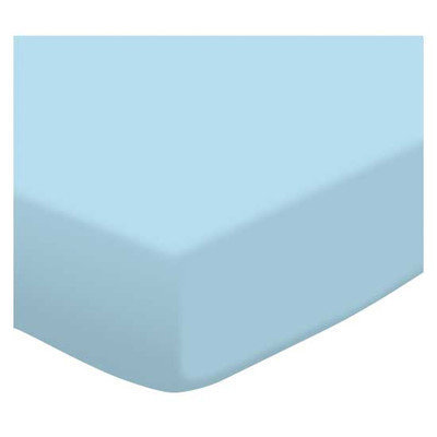 SheetWorld Fitted Bassinet Sheet - Flannel FS9 - Aqua blue - 15 x 32 1/2 - Made In USA