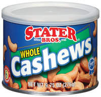 Stater Bros. Whole Cashews 9.75 Oz Can