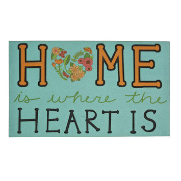 Mohawk Home Style Selections Blue Rectangular Door Mat (Common: 18-in x 30-in; Actual: 18-in x 30-in) 4794-16108-18X30