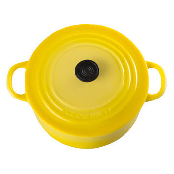 Le Creuset Cast Iron Round French Oven Magnet Color: Soleil