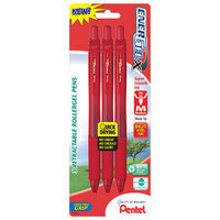 Pentel 3 Count 0.7mm Red Needle Point Gel Pen