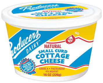 Producers Natural Small Curd Cottage Cheese 1 Lb Tub