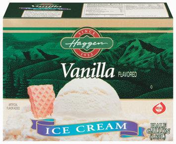 Haggen Vanilla Ice Cream .5 Gal Carton