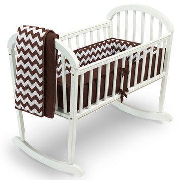 Baby Doll Bedding Chevron 3 Piece Cradle Bedding Set Color: Brown