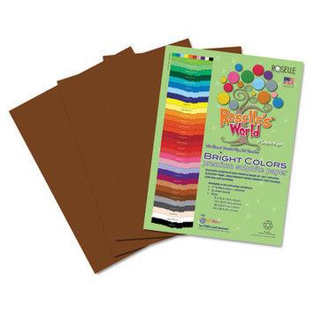 Roselle Paper Co 72401 Premium Sulphite Construction Paper 76 Lbs. 9 X 12 Dark Brown 50/pack