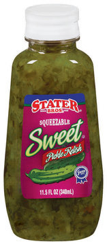 Stater Bros. Sweet - Squeezable Bottle Pickle Relish 11.5 Oz Squeeze Bottle