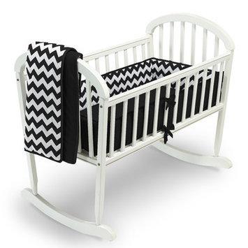 Baby Doll Bedding Chevron 3 Piece Cradle Bedding Set Color: Black