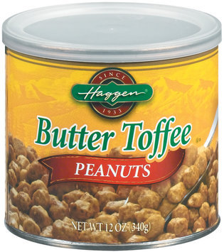 Haggen Butter Toffee Peanuts 12 Oz Canister