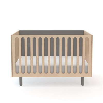 Oeuf Fawn Convertible Crib with Mattress Finish: Grey
