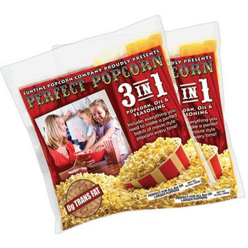 Funtime Popcorn Machines Perfect Popcorn 3-in-1 Popcorn Pouches Size: 2.5 Ounce