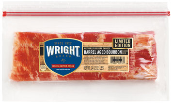 Wright® Naturally Hickory Smoked Barrel Aged Bourbon Bacon 24 oz. Pack