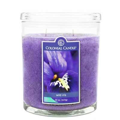 Fragranced in-line Container CC022.2071 22oz. Scented Oval Candle - Wild Iris