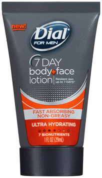 Dial® for Men 7 Day Ultra Hydrating Body + Face Lotion 1 fl. oz. Tube