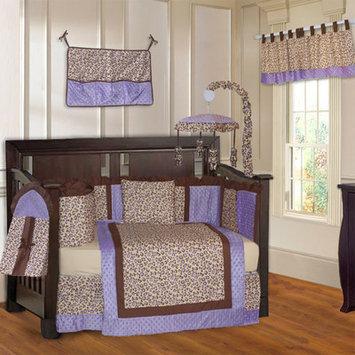 Babyfad Leopard 10 Piece Crib Bedding Set Color: Purple