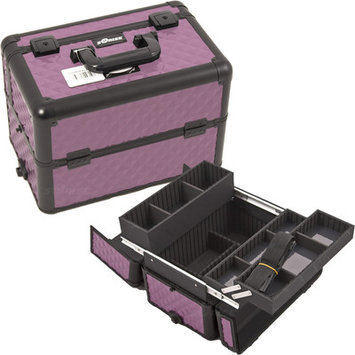 Sunrise Cases Sunrise E3302DMPLB Purple, Black Diamond Pro Makeup Case