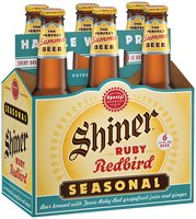 Shiner Seasonals Dortmunder/Ruby Redbird/Oktoberfest/Holiday Cheer 12 Oz Beer 6 Pk Glass Bottles