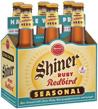 Shiner Seasonals Dortmunder/Ruby Redbird/Oktoberfest/Holiday Cheer 12 Oz Beer 6 Pk Glass Bottles