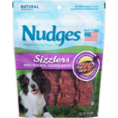 Nudges® Chicken Bacon Sizzlers Wholesome Dog Treats 10 oz. Bag