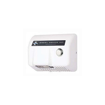 Excel Dryer Lexan Push Button Surface Mounted 277 Volt Hand Dryer in White