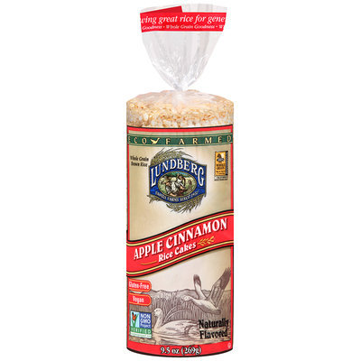 Lundberg® Eco-Farmed Apple Cinnamon Rice Cakes 9.5 oz. Bag