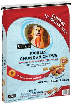 Ol' Roy® Kibbles Chunks & Chews Savory Beef & Chicken Flavor Dog Food