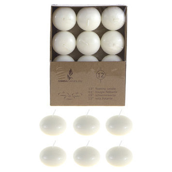 Mega Candles Unscented 1 5 Quot Floating Disc Candles Ivory Set Of 12 HHK0P6QW8-1614