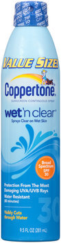 Coppertone® Wet 'n Clear® Broad Spectrum SPF 30 Continuous Spray Sunscreen 9.5 fl. oz. Can