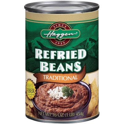 Haggen Traditional Refried Beans 16 Oz Can