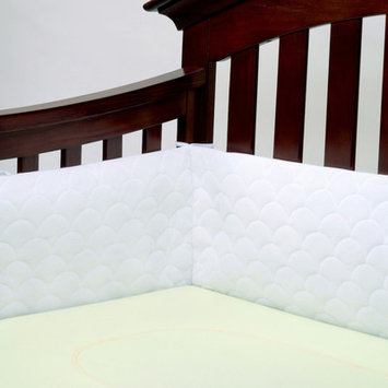 Lifenest Breathable and Padded Mesh Crib Bumper Color: White