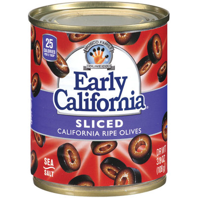 EARLY CALIFORNIA Sliced California Ripe Olives 3.8 OZ CAN