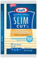 Kraft Slim Cut Reduced Fat Extra Sharp White Cheddar Natural Cheese Slices 17 ct ZIP-PAK®