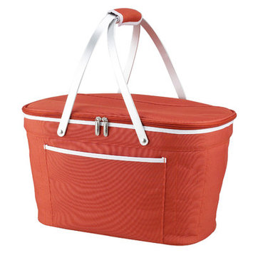 Picnic at Ascot Collapsible Basket Cooler in Orange