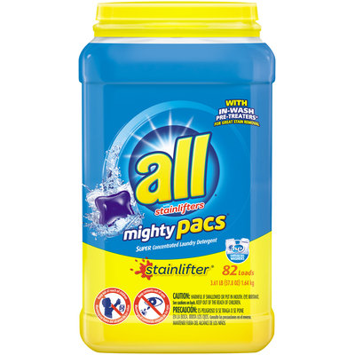 all® stainlifter® mighty pacs® Laundry Detergent 82 ct. Tub