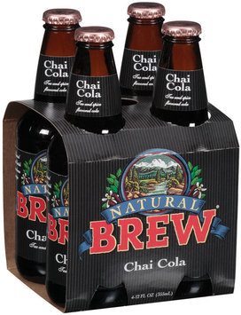 Natural Brew Tea & Spice Flavored 12 Oz Chai Cola 4 Pk Glass Bottles