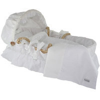 Wendy Anne W1010 - Moses Basket with White Eyelet Bedding Set