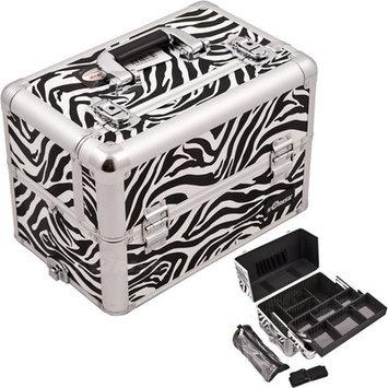 Sunrise Cases Sunrise E3307ZBWH Zebra White Pro Makeup Case