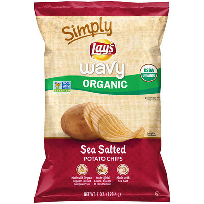 LAY'S® Simply Wavy Organic Sea Salted Potato Chips