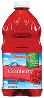 Schnucks Cranberry Lite Juice Cocktail 64 Oz Plastic Bottle