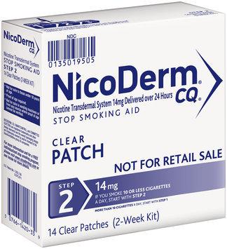 NicoDerm® CQ® Step 2 14mg Clear Patch Stop Smoking Aid 14 ct Box