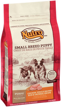 Nutro® Small Breed Puppy Chicken, Whole Brown Rice & Oatmeal Recipe Dog Food 4 lb. Bag
