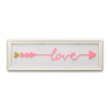 Farallon Brands Farallon Peanut Shell Framed Love Print Wall Decor