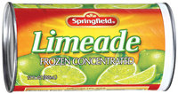 Springfield Frozen Concentrated Limeade 12 Oz Can