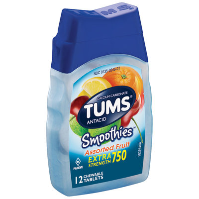 Tums® Smoothies™ Extra Strength 750 Assorted Fruit Antacid Tablets 12 ct Bottle