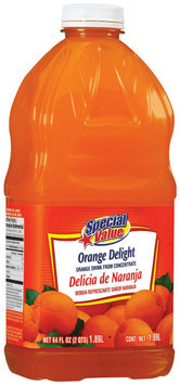 Special Value Orange Delight Beverage 64 Oz Plastic Bottle
