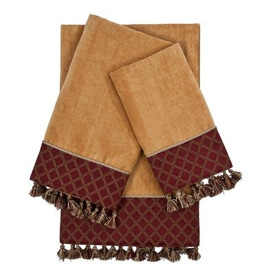 Sherry Kline Brenda Embellished 3 Piece Towel Set